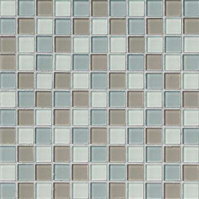 Majestic Ocean 12 in. x 12 in. x 4mm Glass Mesh-Mounted Mosaic Tile