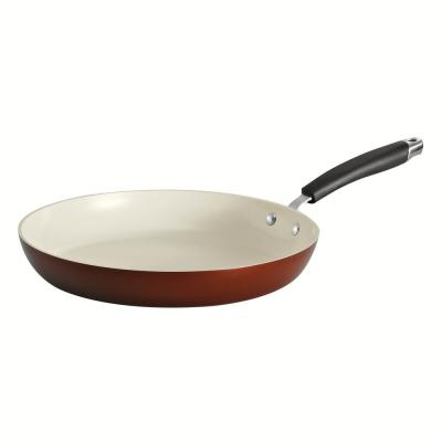 Style Ceramica 12 in. Aluminum Ceramic Nonstick Frying Pan in Metallic Copper