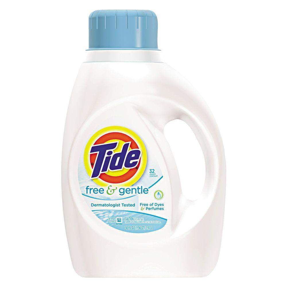 Tide 50 Oz Free And Gentle Laundry Detergent Bottle Case