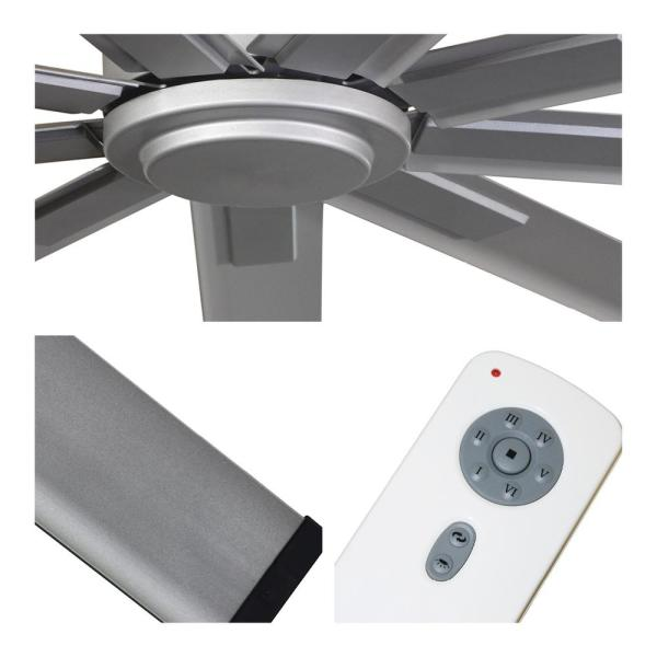 Big Air 96 In Indoor Metallic Satin Nickel Industrial Ceiling Fan With Remote Control Icf96 The Home Depot