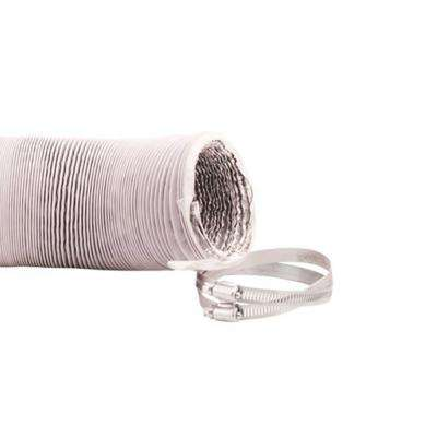 Max-Duct 10 in. x 25 ft. PVC Flexible White Vinyl Ducting