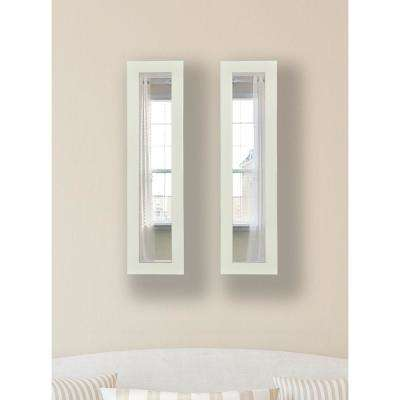9.5 in. x 27.5 in. Glossy White Vanity Mirror (Set of 2-Panels)