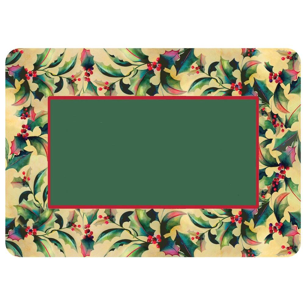 Holly and Berry Board 22 in. x 31 in. Polyester Surface
