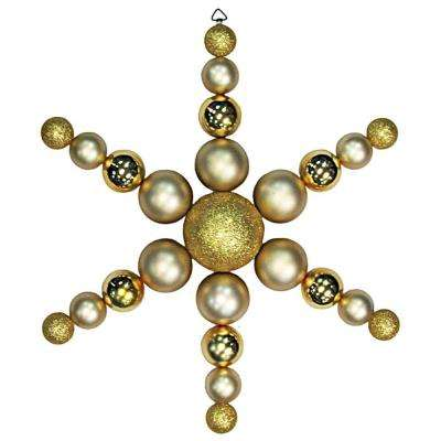 31 in. Gold Shatterproof Star Flake Ornament