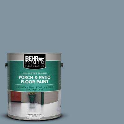 1 gal. #PFC-54 Blue Tundra Low-Lustre Porch and Patio Floor Paint