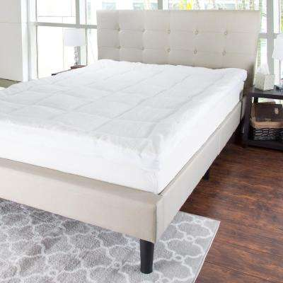 3 in. Queen Size Reversible Down Alternative Sherpa Mattress Topper