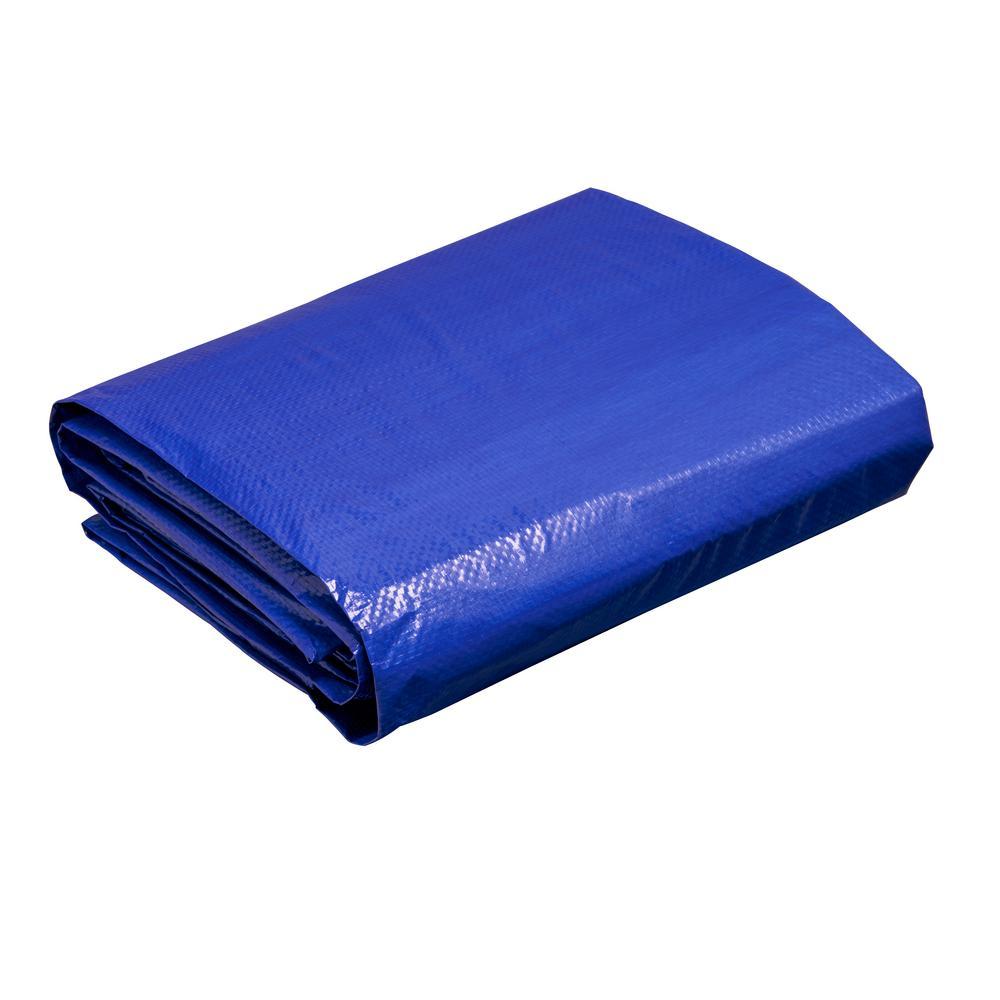 12 ft. W x 10 ft. L Blue Medium Duty Tarp