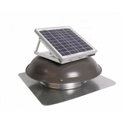 433 CFM Weathered Gray Galvanized Steel Solar Powered Attic Fan with Adjustable Solar Panels