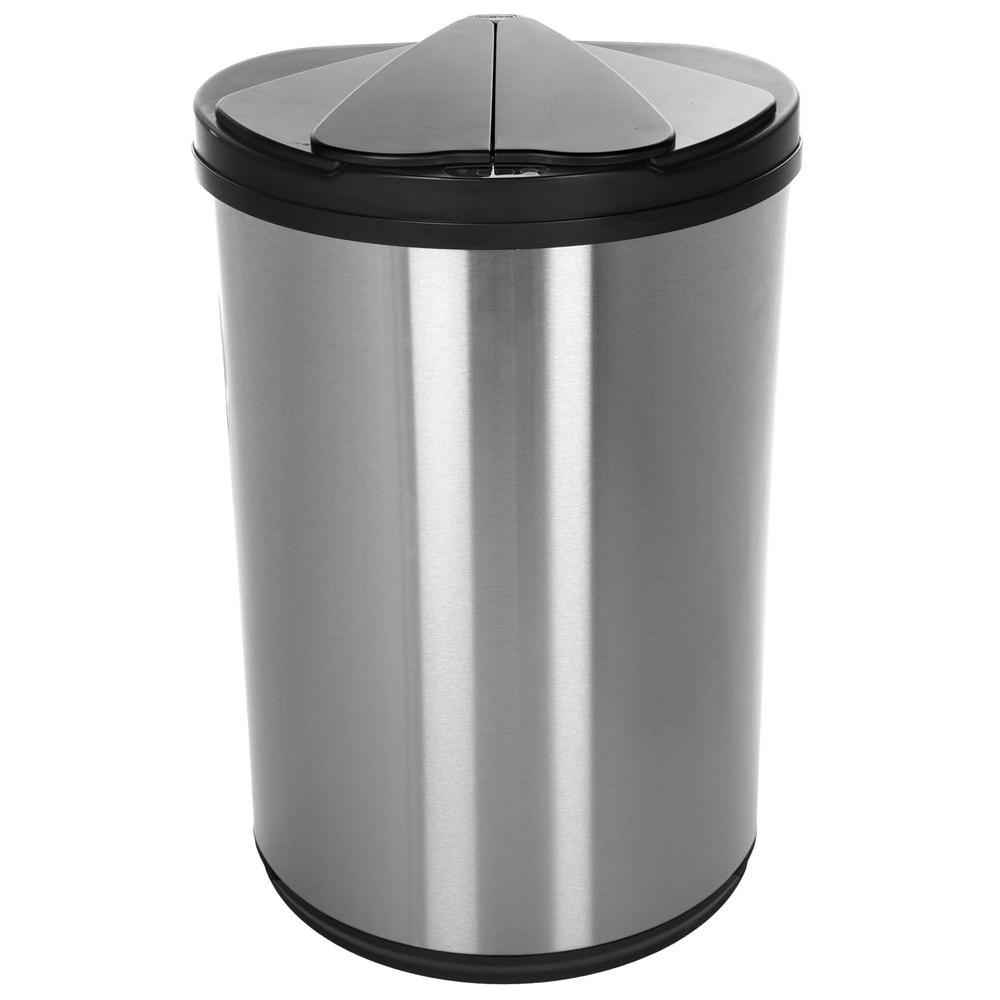 Nine Stars 12 4 Gal Stainless Steel Motion Sensing Touchless Infrared Trash Can