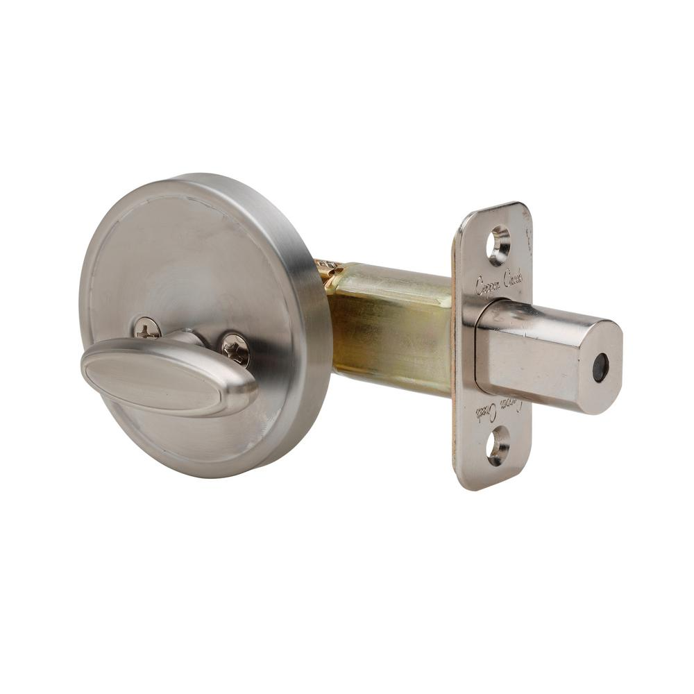 Copper Creek One Sided 1 2 Bore Satin Stainless Deadbolt