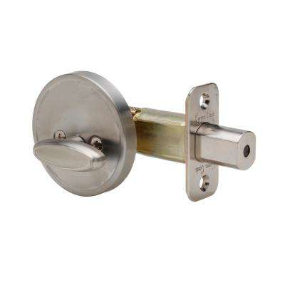 One Sided 1/2 Bore Satin Stainless Deadbolt
