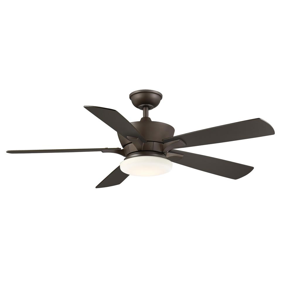Home Decorators Collection Bergen 52 In Led Uplight Espresso Bronze Ceiling Fan With Light And