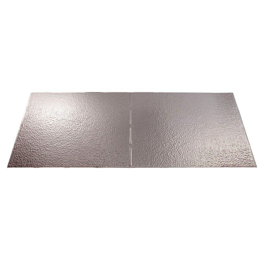 Fasade Border Fill 2 ft. x 4 ft. Brushed Aluminum Lay-in Ceiling Tile