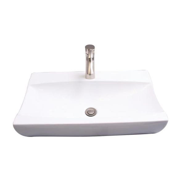 Barclay Products Ramsey Vessel Sink In White 4 8120wh The Home Depot