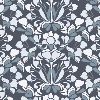 Nomad Collection Sanpdragon in Blues and Greys Removable and Repositionable Wallpaper