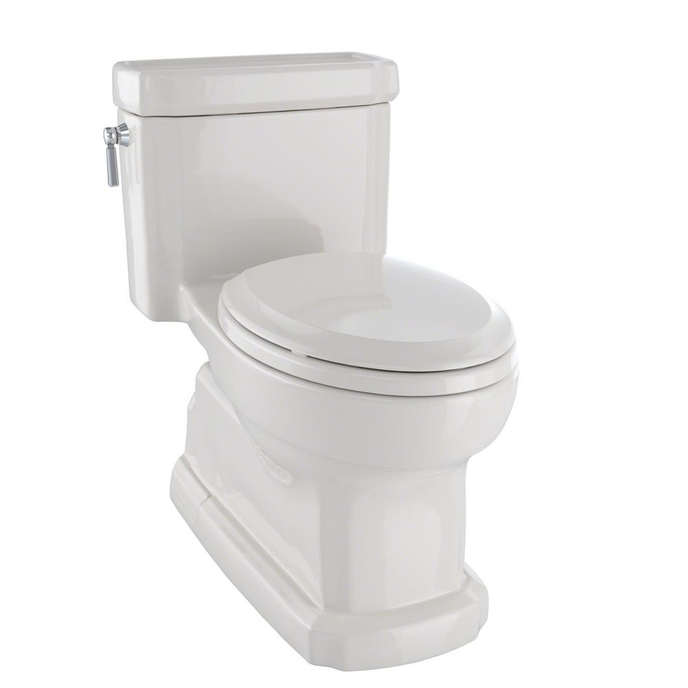 This Review Is FromEco Guinevere 1 Piece 128 GPF Single Flush Elongated Skirted Toilet With CeFiONtect In Sedona Beige