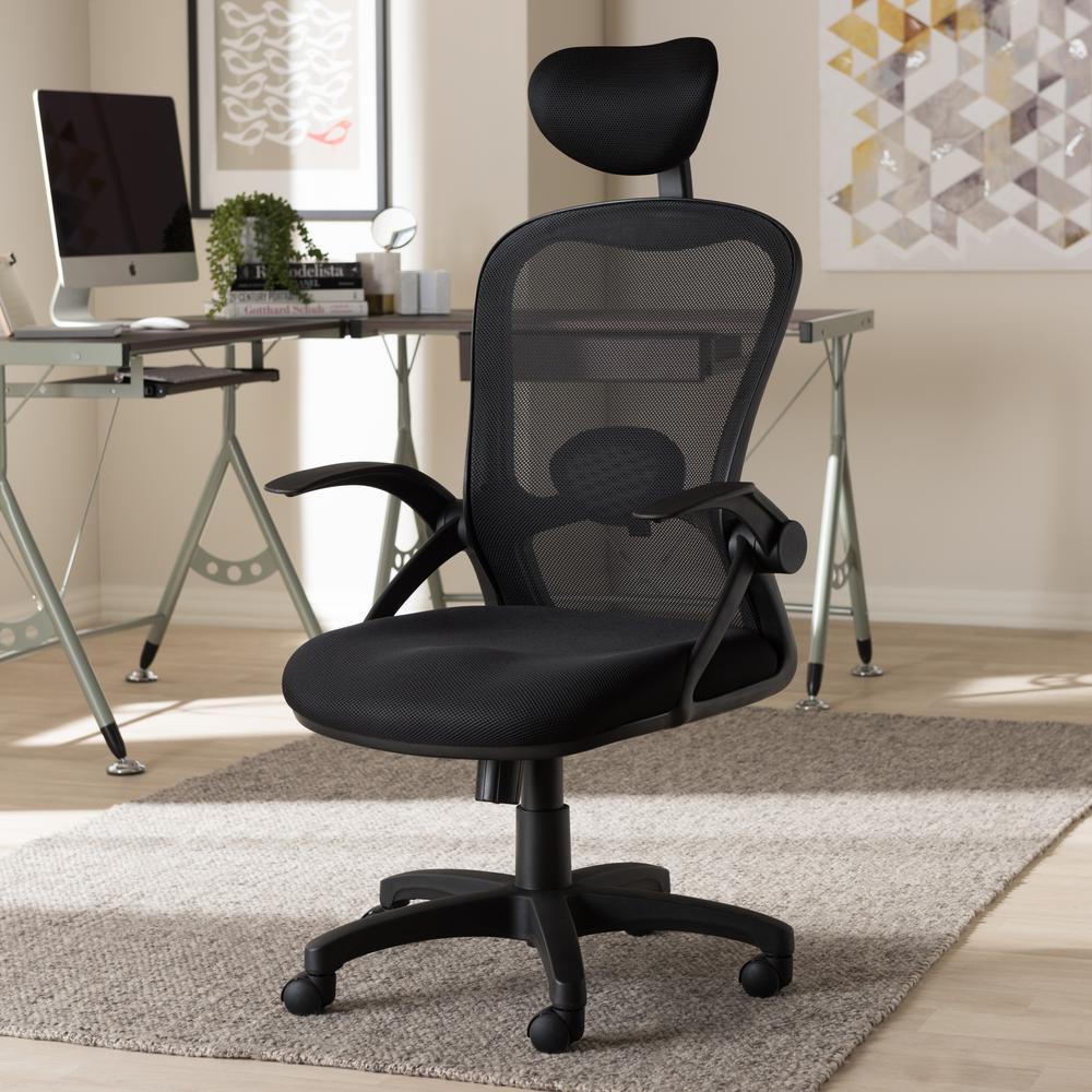 Baxton Studio Ernst Black Office Chair