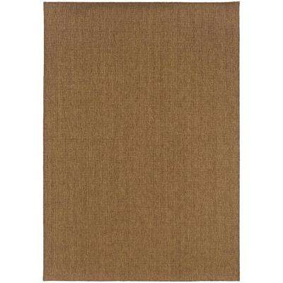 Sanibel Dark Natural 7 ft. x 10 ft. Indoor/Outdoor Area Rug