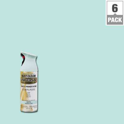 12 oz. All Surface Matte Robin's Egg Spray Paint and Primer in One (6-Pack)