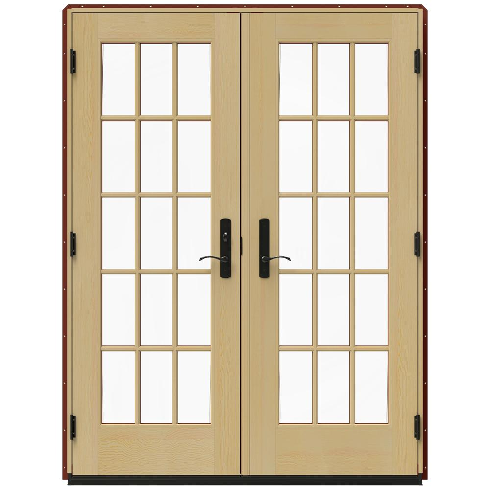Jeld Wen In X 79 5 In W 4500 Mesa Red Right Hand Inswing French Wood Patio Door