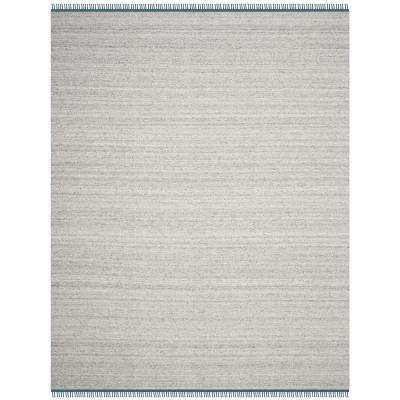 Kilim Gray/Ivory 8 ft. x 10 ft. Area Rug