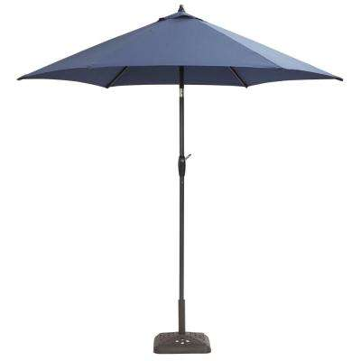 9 ft. Aluminum Patio Umbrella in Midnight with tilt