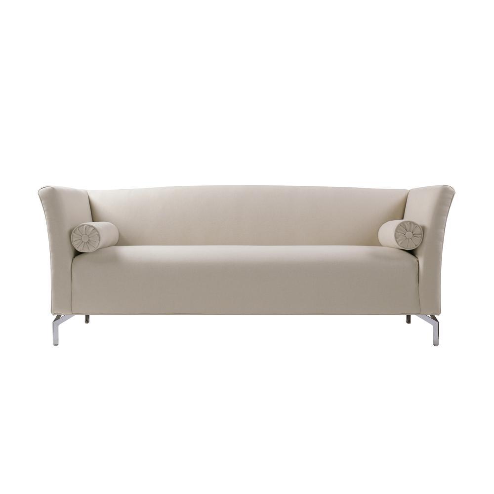 SANDY WILSON Camilla Sky Neutral Mid Century Modern Sofa