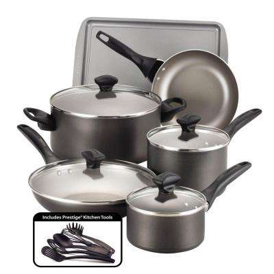 15-Piece Pewter Cookware Set with Lids