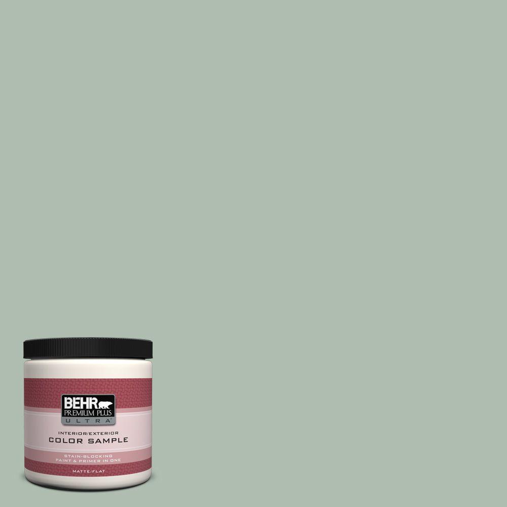 BEHR Premium Plus Ultra 8 oz. #450E-3 Southern Breeze Interior/Exterior Paint Sample