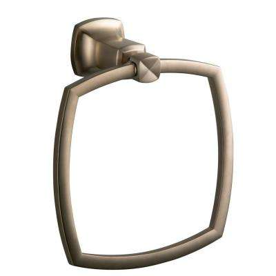 Margaux Towel Ring in Vibrant Brushed Bronze