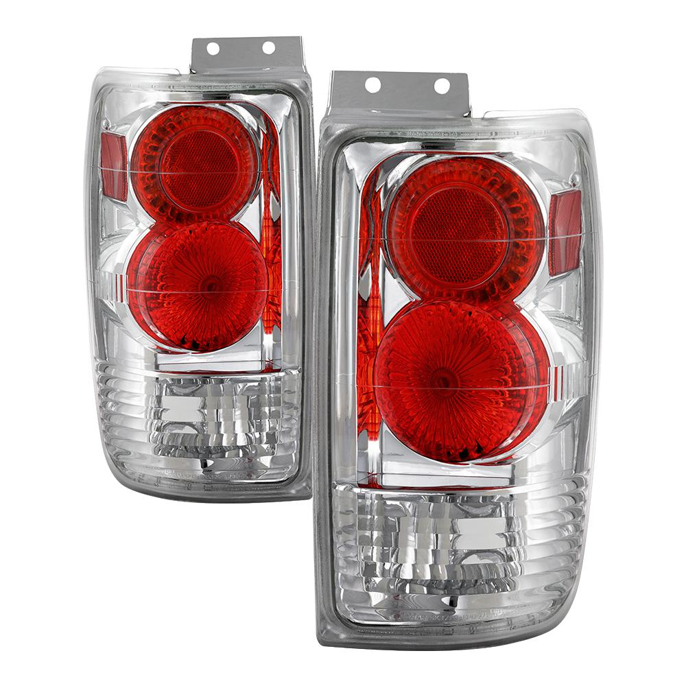 Ford Expedition 97 02 Euro Style Tail Lights Chrome