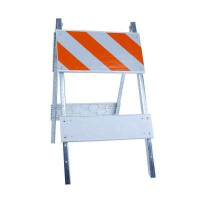 12 in. Plastic/Galvanized EG Sheet Type I Folding Barricade