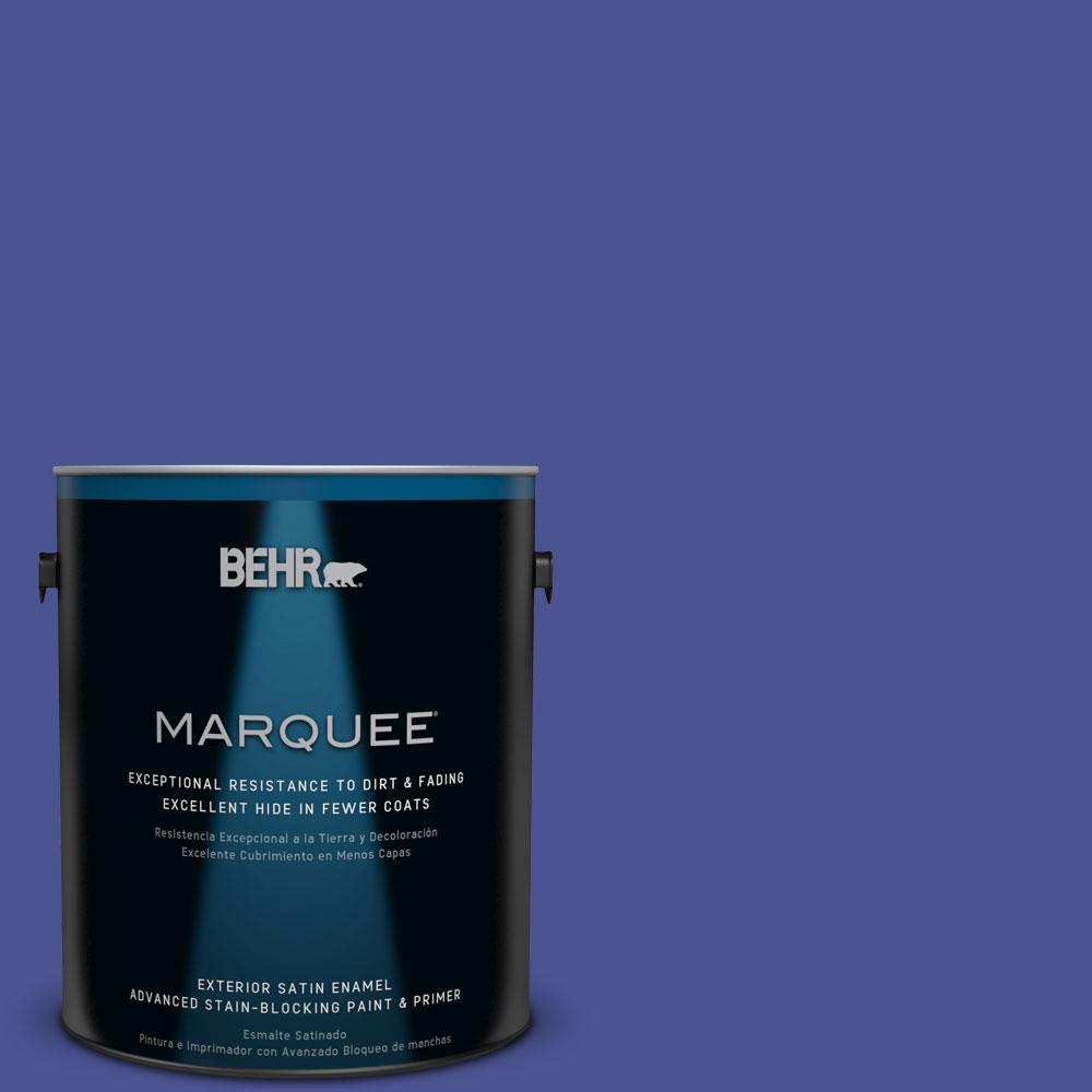 BEHR MARQUEE 1-gal. #P540-7 Canyon Iris Satin Enamel Exterior Paint