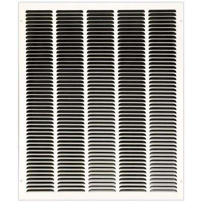 20 in. x 24 in. Return Air Vent Grille with Fixed Blades, White