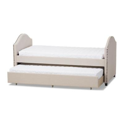 Alessia Contemporary Beige Fabric Upholstered Twin Size Daybed
