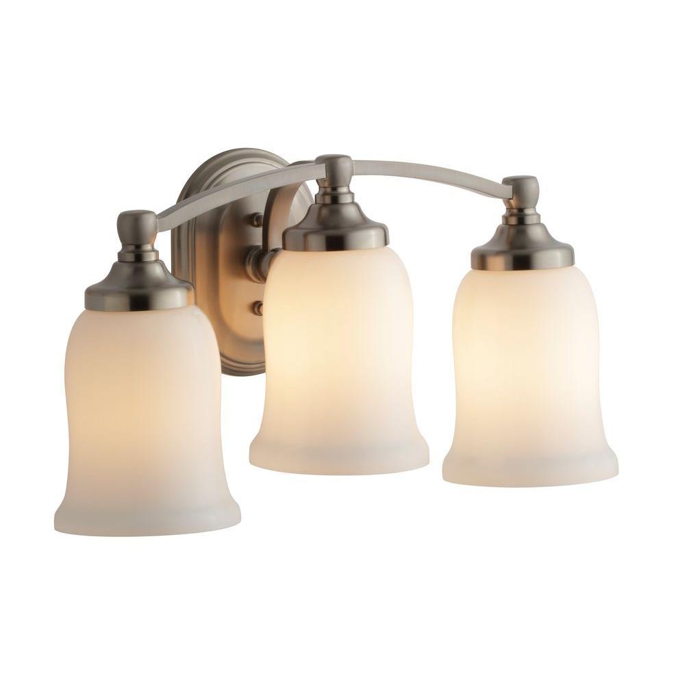 KOHLER Bancroft 3-Light Vibrant Brushed Nickel LED Sconce-K-11423 ...