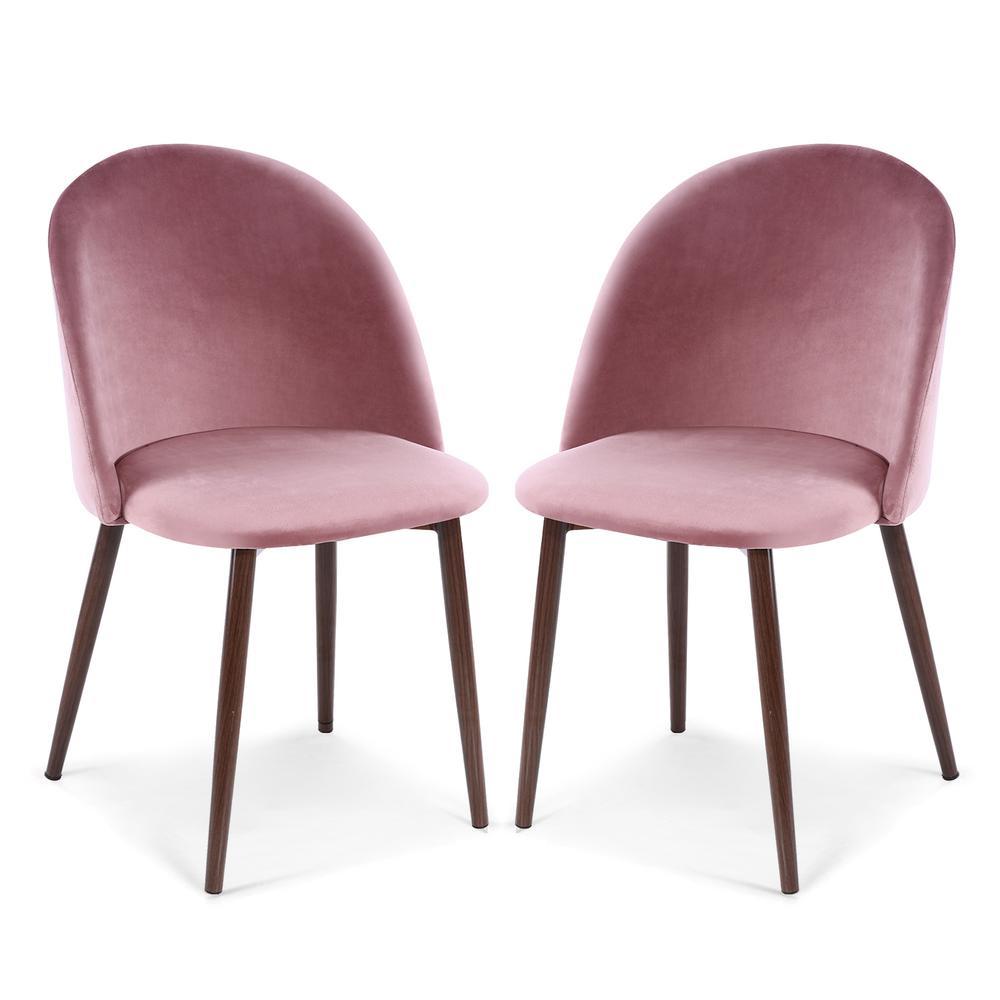 Sedona Dusty Rose Velvet Dining Chair (Set of 2)