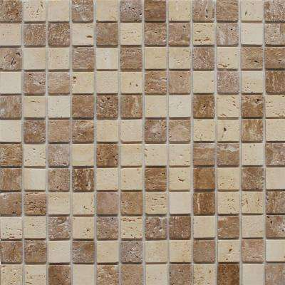 12 in. x 12 in. Travertine Stone Backsplash Tile in Natural (6-Pack)