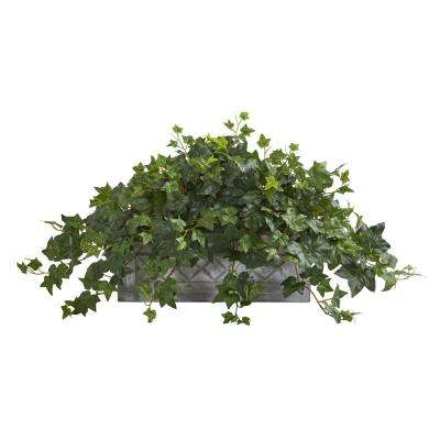Indoor Puff Ivy Artificial Plant in Stone Planter