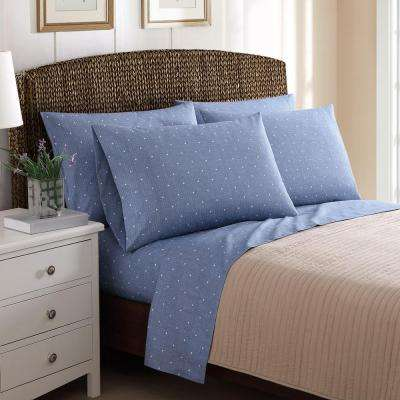 4-Piece Printed Textured Dot Twin Sheet Sets