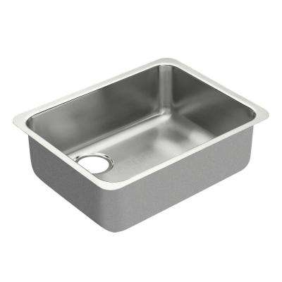 1800 Series Undermount Stainless Steel 23 in. Single Basin Kitchen Sink