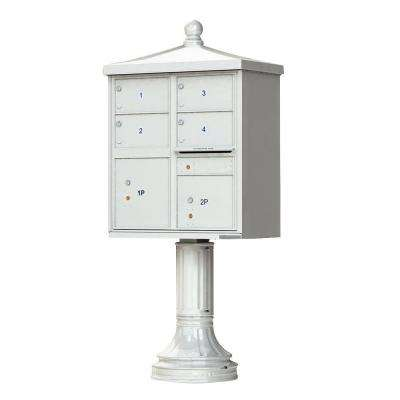 1570 Series 4 Large Mailboxes, 1 Outgoing, 2 Parcel Lockers, Vital Cluster Mailbox with Vogue Traditional Accessories