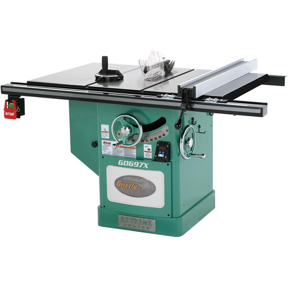 Grizzly Industrial 12 inch 7-1/2 HP 3-Phase Extreme Series Left-Tilt Table Saw