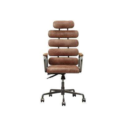 Calan Vintage Whiskey Top Grain Leather Executive Office Chair