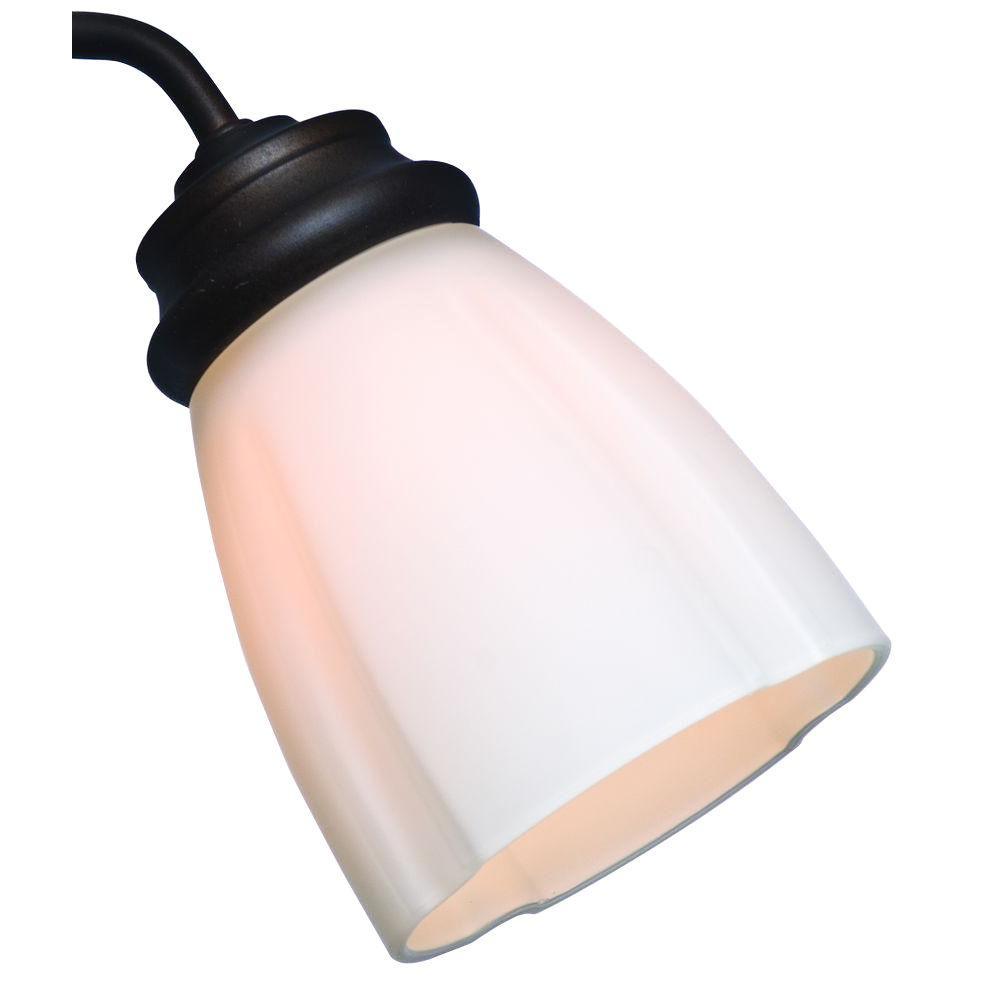 2-1/4 in. Ribbed Deco Cased White Glass Ceiling Fan Light (4-Set)