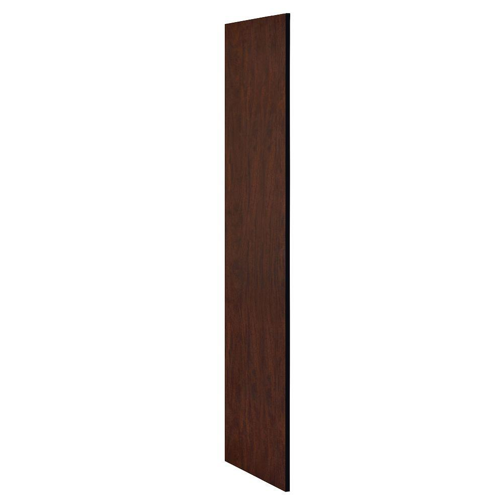 Salsbury Industries Extra Wide Designer Wood Side Panel for 21 in. Deep Extra Wide Designer Wood locker in Mahogany