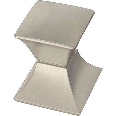 Modern Luxe 1-1/16 in. (27 mm) Satin Nickel Cabinet Knob