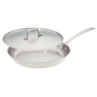 12 in. Premium Stainless Steel Skillet with Cover