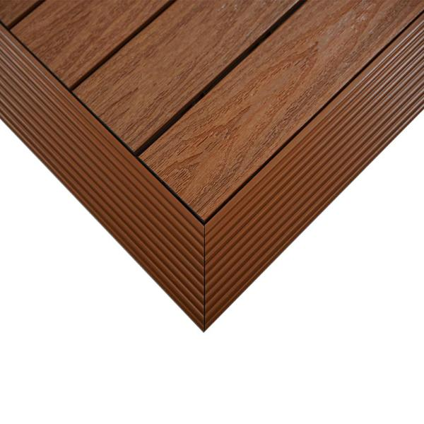 1/6 ft. x 1 ft. Quick Deck Composite Deck Tile Outside Corner Fascia in Honduran Mahogany (2-Pieces/Box)