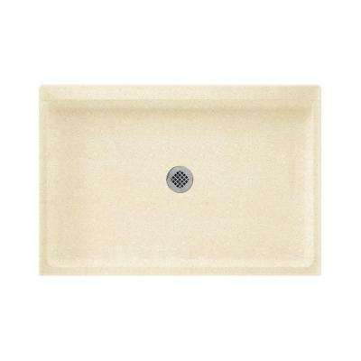32 in. x 48 in. Solid-Surface Single Threshold Shower Floor in Pebble